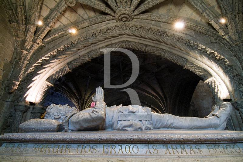 Luís Vaz de Camões no Mosteiro dos Jerónimos