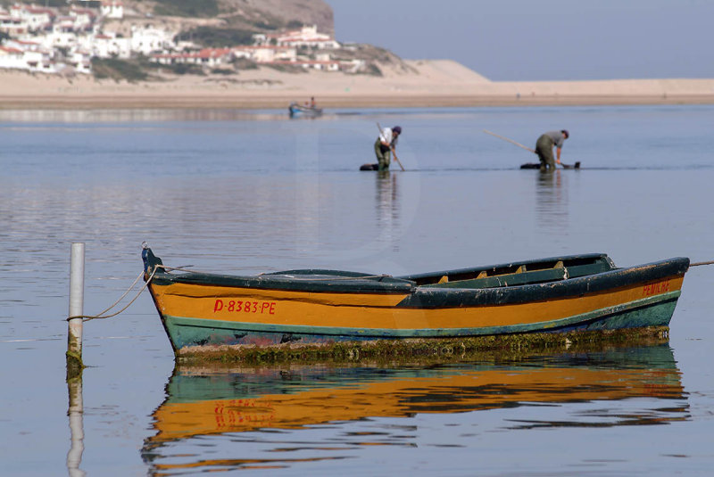 A Lagoa de Óbidos <br>em 16 de junho de 2004