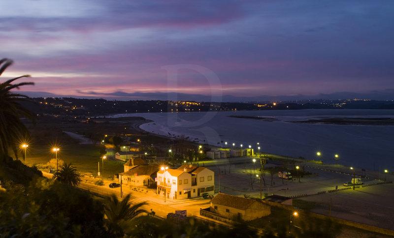 A Lagoa de Óbidos <br>em 15 de fevereiro de 2007