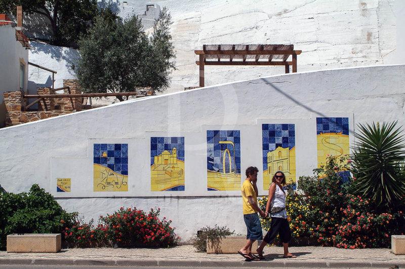 Azulejos de Aljezur, pelos Alunos da Escola Básica, em 98/99