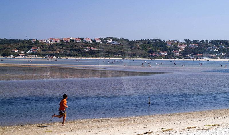 A Lagoa de Óbidos <br>em 1 de setembro de 2007