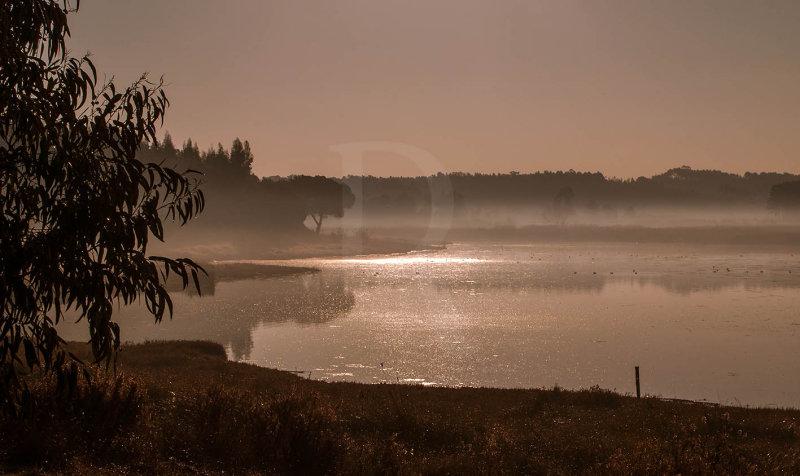 A Lagoa de Óbidos <br>em 16 de dezembro de 2007