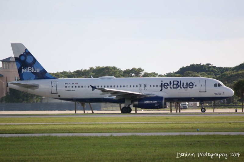 Airbus A320 (N630JB) Honk If You Love Blue