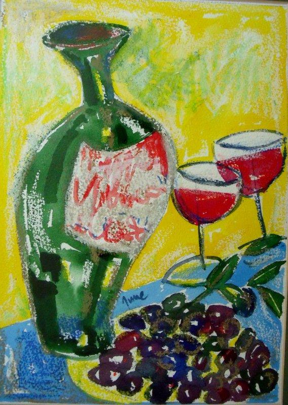 Olives & wine, £100 - SOLD