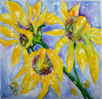 Square of sunflowers £150