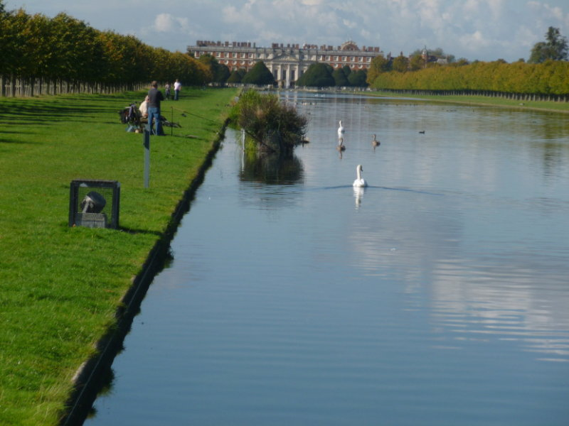 Another view of Long Water with Hampton Court Palace at the end of the water