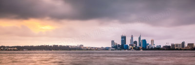 Perth and the Swan River at Sunrise, 18th September 2011
