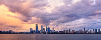 Perth and the Swan River at Sunrise, 7th June 2012