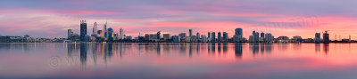 Perth and the Swan River at Sunrise, 30th April 2013