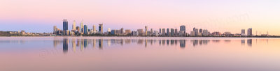 Perth and the Swan River at Sunrise, 21st January 2015