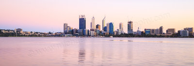 Perth and the Swan River at Sunrise, 24th March 2015