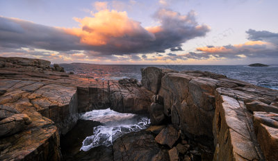 Natural Bridge Sunrise, Albany, 30th April 2016