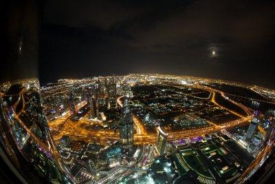 Dubai under the moonlight