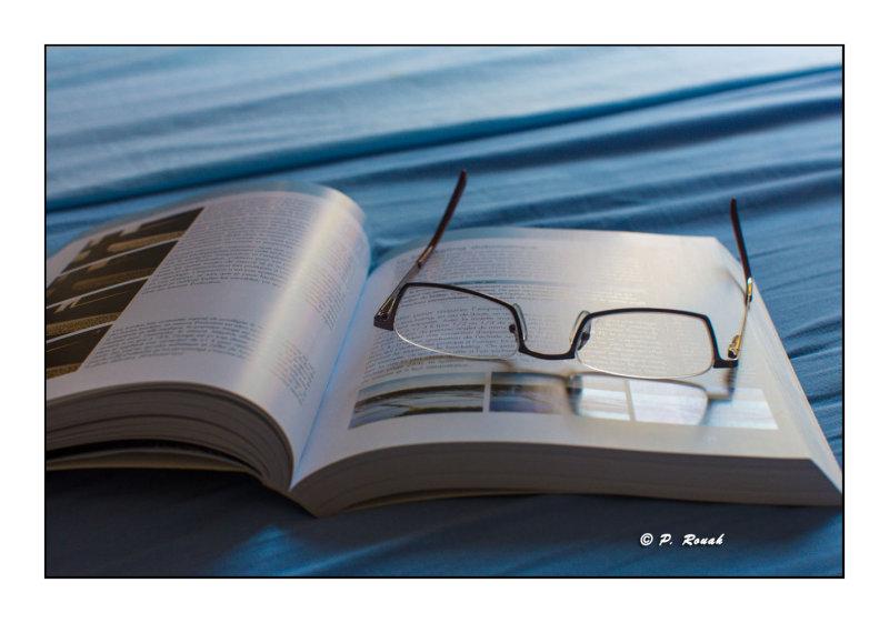 Moment de détente : Livre et lunettes - 6347