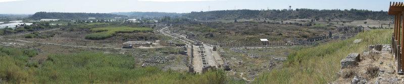 Perge Acropolis area shots October 2016 9527 panorama.jpg