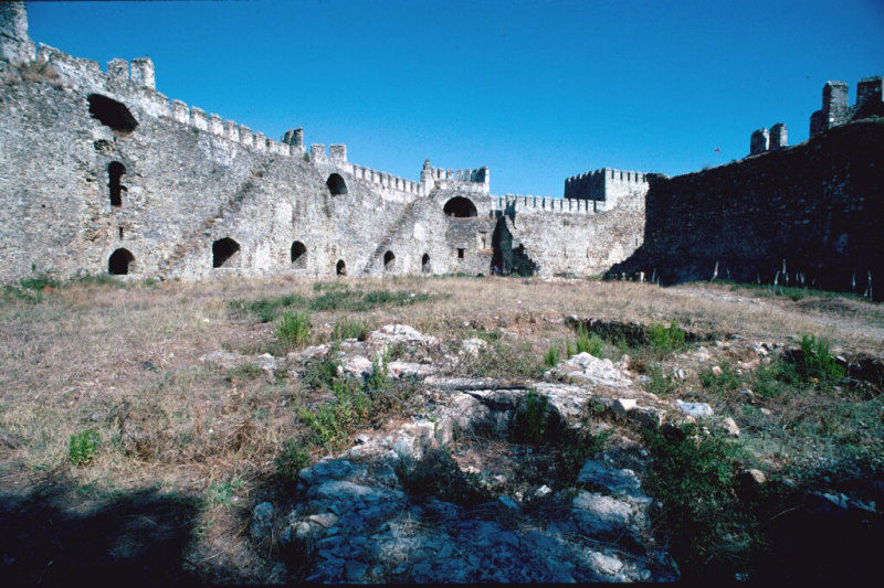 Anamur Castle courts