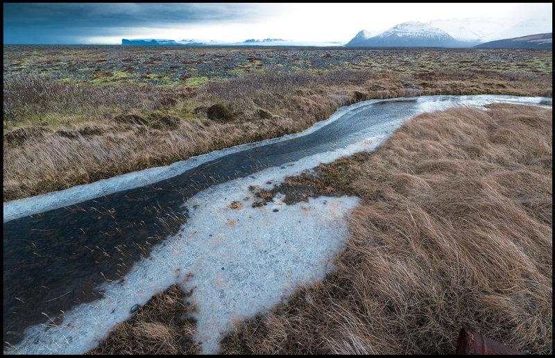 A small frozen stream near Skaftafell