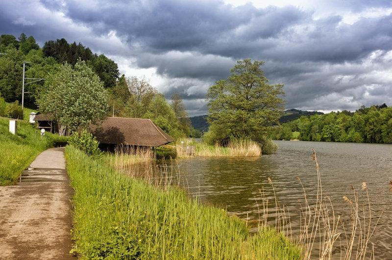 Rotsee after rain