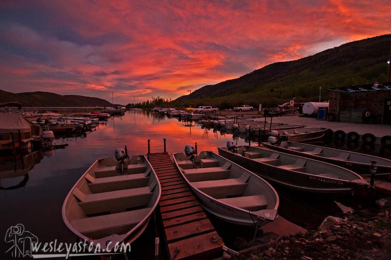 Sunset at Fish Lake