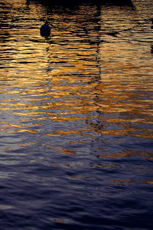 Orange, gold and blue (2018)