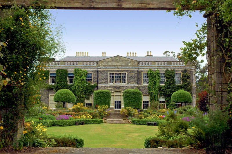 House and gardens framed, Mount Stewart (2406)