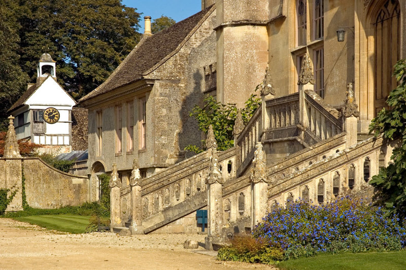Lacock Abbey ~ steps and clock