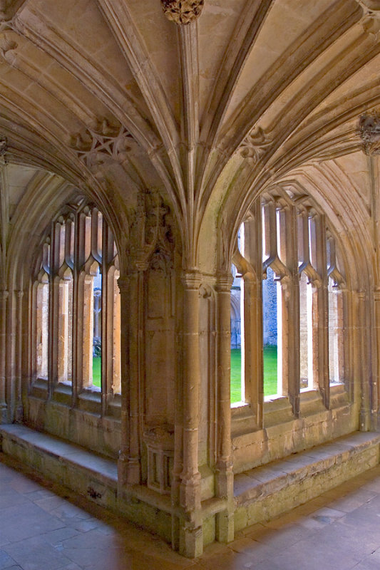 Lacock Abbey ~ cloister corner