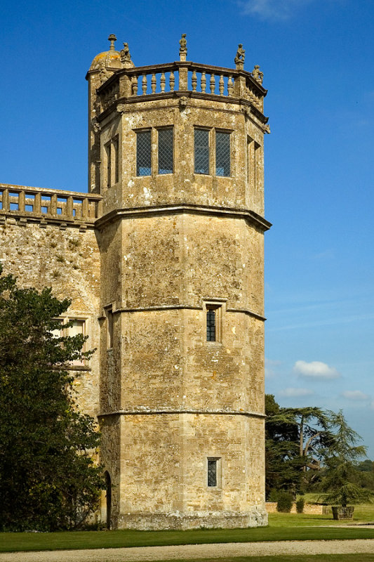 Lacock Abbey ~ tower detail