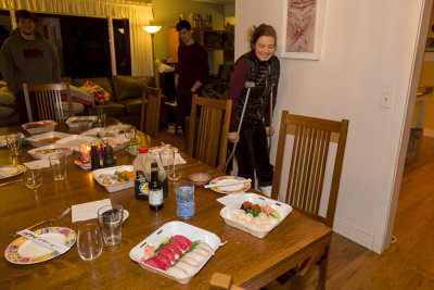 injured heidi joining the feast