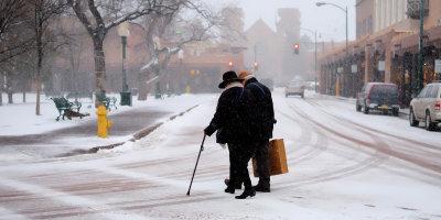 A winter walk in Santa Fe