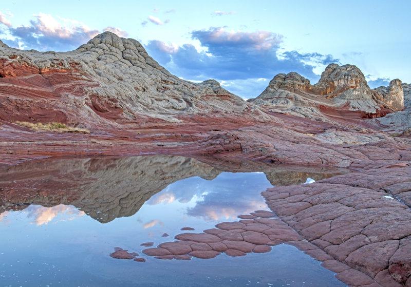 Monsoon puddles at White Pocket, Vermillion Cliffs National Monument, AZ