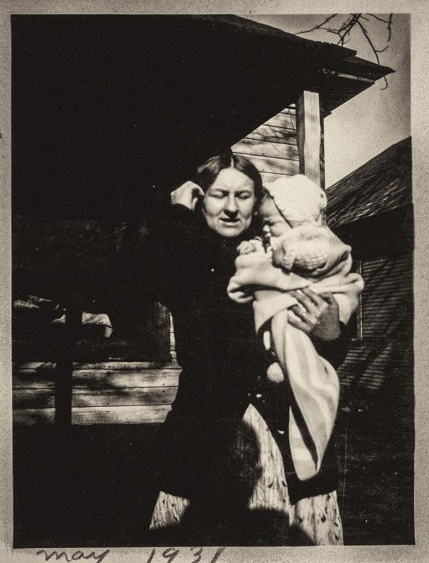 Grandma w_Dad_1931