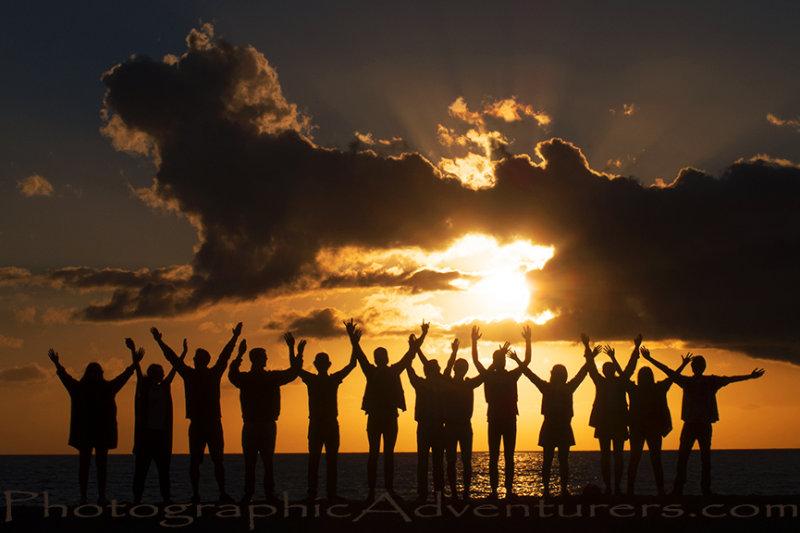 Photographic Adventurers Sunset Silhouettes