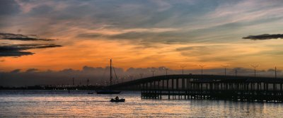 Sunrise Over Eau Gallie Causeway