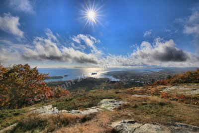 Sun Shines over Camden, Maine