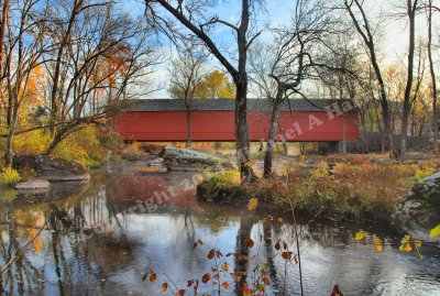 Sheards Mill Covered Bridge near Quakertown, PA