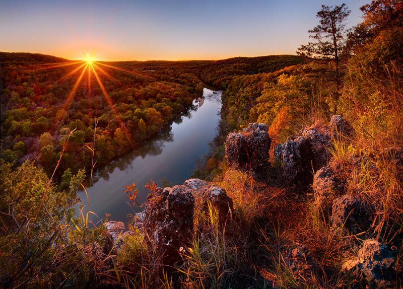 Sunset at Paint-Rock Bluff