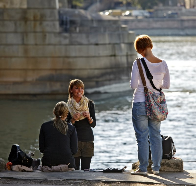 On the bank of the Danube River