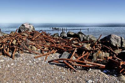 Rusting Sea Defence