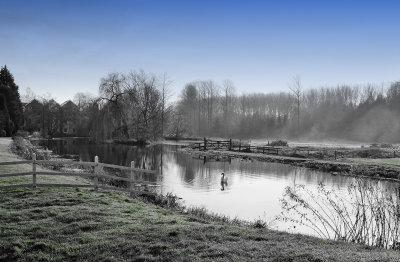 Classic Winter Morning on the River Bure
