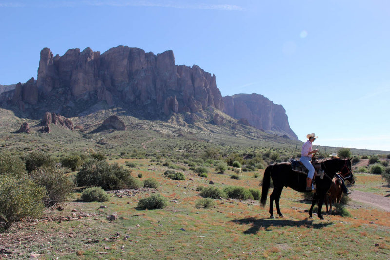 Horseback at the Superstition Mountains