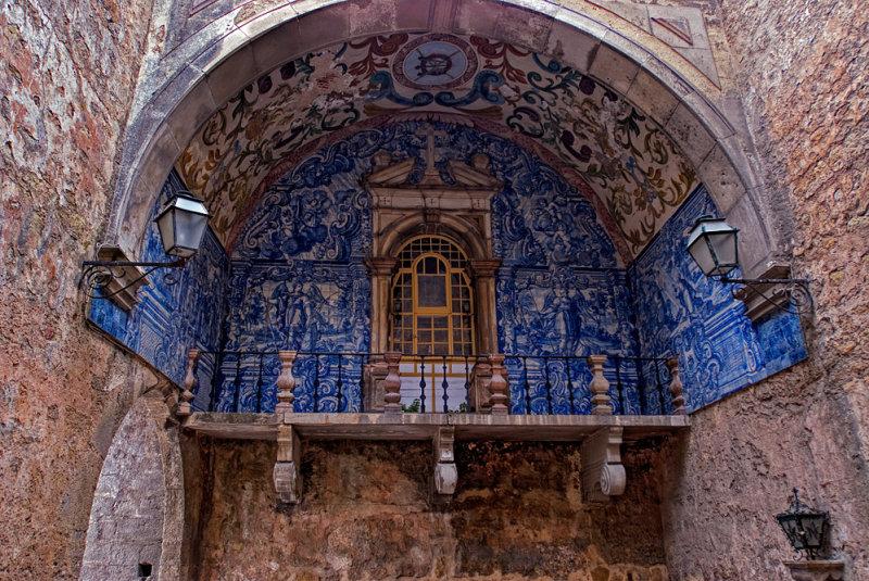 Portugal, Obidos - artistic balcony