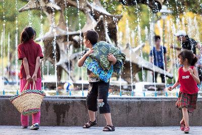 Surprised children - Esfahan