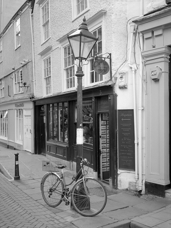 Bicycle and shop