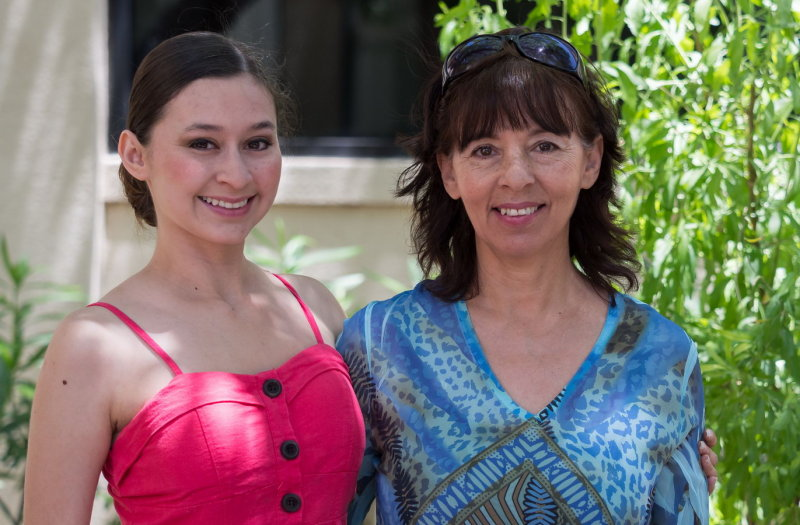Karina Fonseca and her proud mother