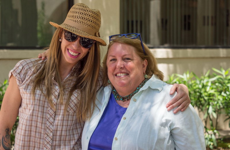 Leah Aguilera with Dr. Miriam Chaiken