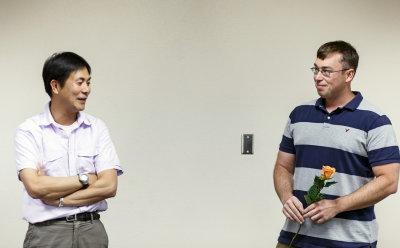 Dr. Fumi Arakawa and Bob Dickenson