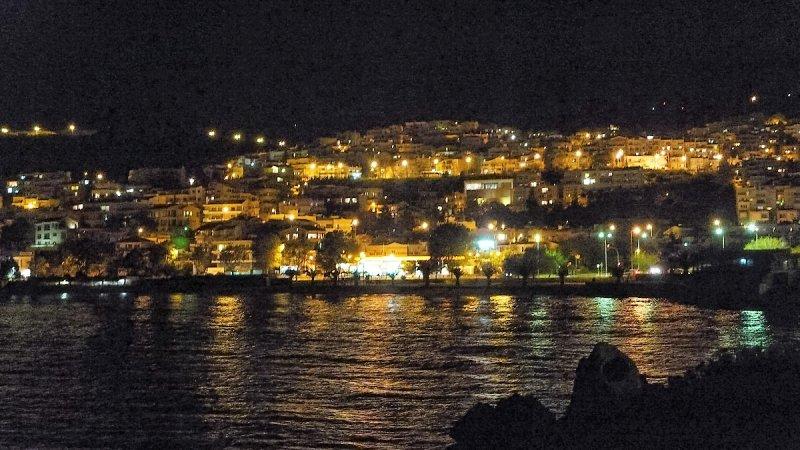 Kavala by night..