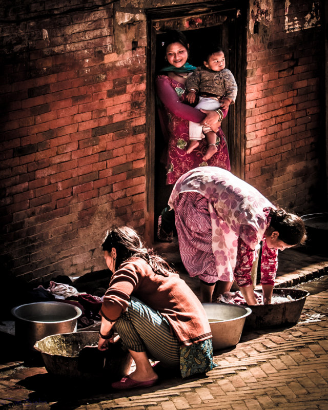 Wash Day, Bhaktapur, Nepal