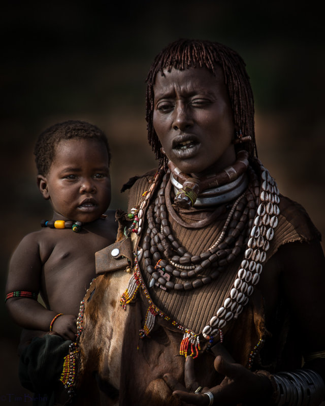 Hamar Woman and Child